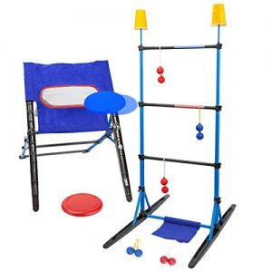 3-IN-1 Outdoor Toss Game Set-Ladder Ball Game,Disc Toss Game,Target Toss Game Perfect For Kids and Adults,Beach, Lawn, Backyard, Camping, Tailgating and Outdoor Play