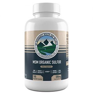 500mg MSM Organic Sulfur Capsules by No Boundaries Health and Wellness – 180 Vegetable Capsules: No Excipients or Fillers – Premium Health Supplement: 99.9% Pure…