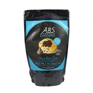 ABS Protein Pancakes – Chocolate Chip Pancake and Waffle Mix – 26g Protein Pancake Gluten Free – High Protein Low Carb – 1 lb. Package