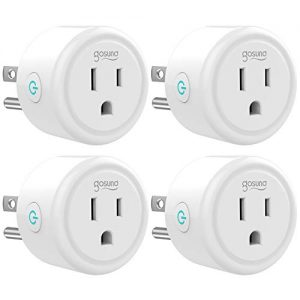 Smart Plug Gosund WiFi Mini Socket Smart Outlet, Work with Alexa and Google Home, No Hub Required, Remote Control your Devices, ETL and FCC Listed 4 Pack