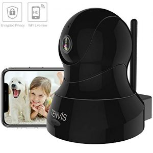 TENVIS Indoor Security Camera –  2.4Ghz Wireless Pet Dog Camera w/Motion Detection, Two-Way Audio, Enhanced Night Vision, Home Surveillance Camera with MicroSD Slot, iOS/Android APP