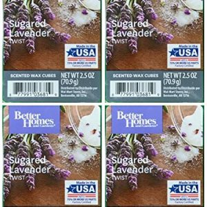Better Homes and Gardens Sugared Lavender Twist Wax Cubes – 4-Pack